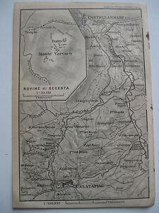 Cartina Sicilia Segesta.Stampa Antica Old Print Map Mappa Sicilia Calatafimi Rovine Di Segesta 1911 Ebay