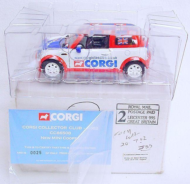 Corgi Toys 1 36 BMW New MINI COOPER  CLUB MODEL 2002  Numbered Car CC86508 MB`06
