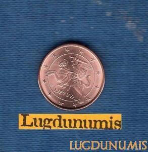 Lituanie-2015-1-Centime-D-039-Euro-Piece-neuve-de-rouleau-Lithuania-Lietuva