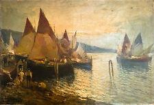"Superbe tableau ""Marine"", HST, signé Paul Philippe, 1870-1930, (forte cote)."
