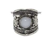 Adjustable Moonstone Ring Boho ring Nepal ring Tibetan ring Tibet Ring RB80
