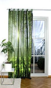 digital bedruckter schlaufenschal vorhang schal mit motiv. Black Bedroom Furniture Sets. Home Design Ideas