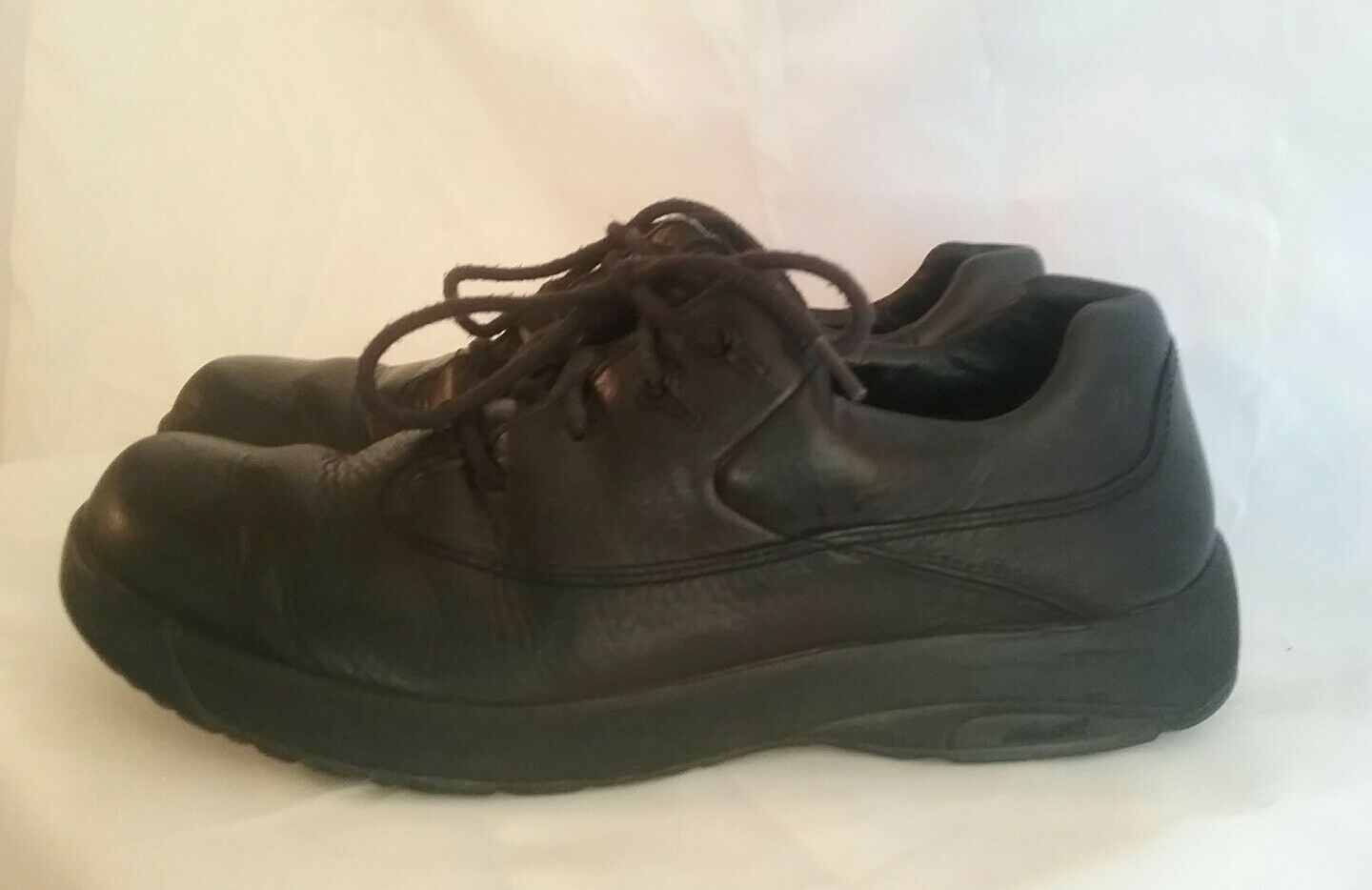 Dunham New Balance Oxford Mens Black Leather Walking Oxford Balance Shoe 10AA f27d82