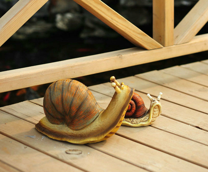 Garden decoration small ornament simulation animal model toy artificial snail