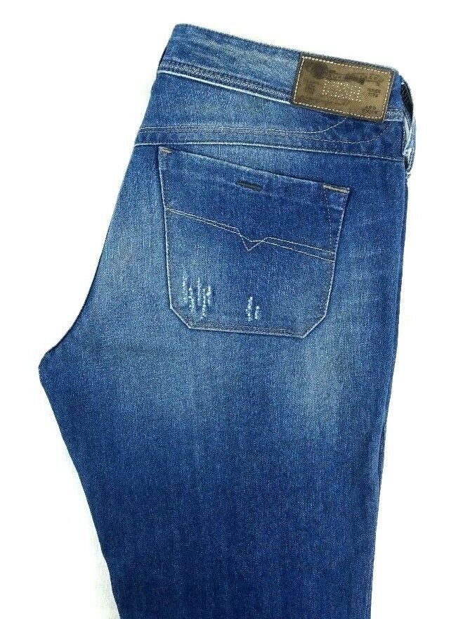 NWT DIESEL Women's Medium Wash Lowky Regular Slim Straight Denim Jeans 30 x 30