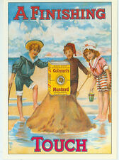 """COLMAN'S MUSTARD-A FINISHING TOUCH-CHILDREN AT THE BEACH--REPRO-4""""X6""""(DV-351*)"""