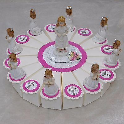 Gastgeschenke Kommunion Mädchen Pink Bomboniere Torte