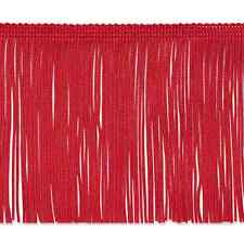 """20 Yard Bolt 6"""" Red Chainette Fabric Fringe Lampshade Lamp Costume Trim"""