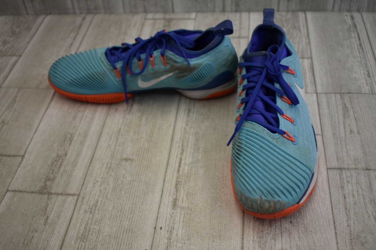 Nike Air Zoom Ultra React Running Shoes, Men's Size 10, Blue/Orange DAMAGED