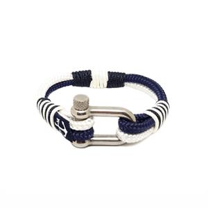 Nautical-Rope-Bracelet-Sailing-Mens-Womens-Handmade-Summer-bracelet-WHITE-BLUE