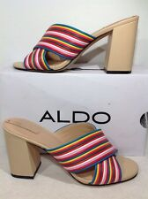 Aldo Women's Size 8 Olani-32 Multi Colored Open Toe Heels Shoes ZF-095
