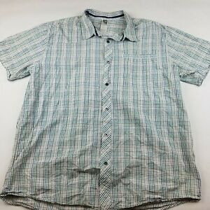 Mens-Size-XXL-Large-The-North-Face-Short-Sleeve-Shirt-Button-Front-Checked