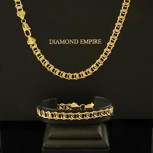 Fine Jewelry Sets Shop For Cheap Jewelry Set Set Curb Chain Bracelet 6 Mm 750 Gold Plated S1801 Year-End Bargain Sale
