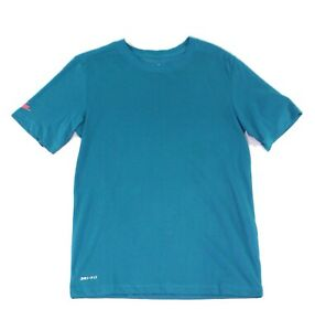 Nike-Mens-T-Shirts-Green-Size-Small-S-Dri-Fit-Moisture-Wicking-Logo-Tee-046