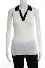 Proenza Schouler Multi-Color Silk Knit Polo Top Size Extra Small $690 New 108998