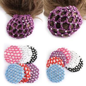 Hair-Accessories-Pearl-Mesh-Bun-Cover-Hair-Styling-Ballet-Snood-Hair-Nets