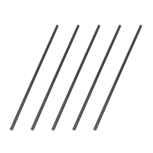 5 Pieces Carbon Fiber Round Rods Model Building Making Material Accs 3x200mm