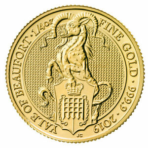 2019-G-Britain-1-4-oz-Gold-Queen-039-s-Beasts-Yale-of-Beaufort-Coin-GEM-BU-SKU57449