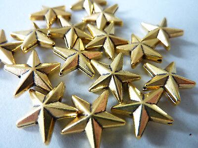14x14mm Seestern NELLYS 10 Metallperlen Spacer gold matt ca
