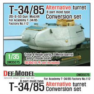 DEF-Model-1-35-T-34-85-Mold-Type-Alternative-Turret-for-Academy-No-112-DM35075
