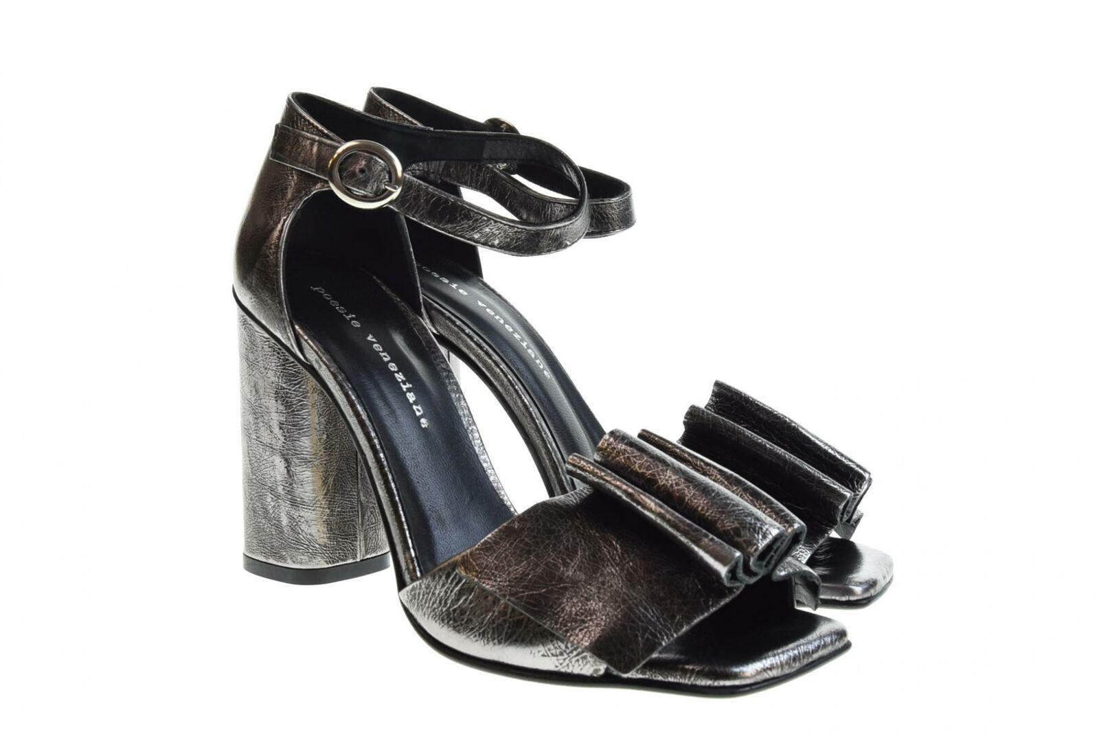 Poesie Veneziane P19f shoes femme sandales a talon JSA02 PIOMBO