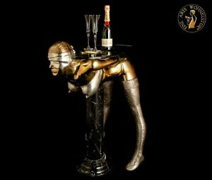 Bronze-Skulptur-Devote-Bondage-Lady-Konsol-Tisch-Statue-Luxus-Erotik-Sex-Figur