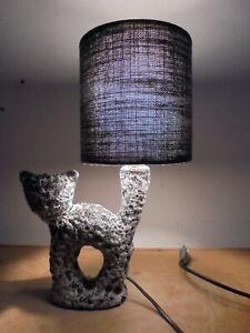 Ceramique-Vintage-60-Rare-Lampe-Forme-libre-Ecume-034-Chat-034-DLG-VALLAURIS-Fat-Lava
