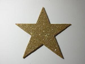 Christbaumschmuck Dresdner Pappe Weihnachtsschmuck Stern 19cm Gold