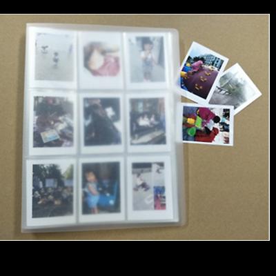 "Instant Photo Album 3.5x2.5/"" 84 Pocket Family Time Recorder Memo Transparent"