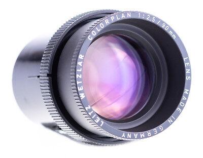 Dia- & Filmprojektion Leitz Colorplan 90 Mm F 2,5 Projektor Objektiv Mit Stutzen 37119 Top Zustand Vertrieb Von QualitäTssicherung Projektionsobjektive
