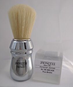 All-Metal-Chromed-Zenith-Big-Boar-Shave-Brush-26x57mm-Italy-B19