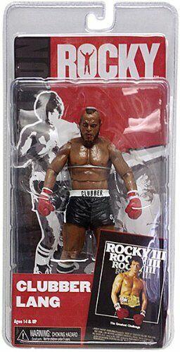 venta caliente Rocky 3 Clubber Lang Pantalones Cortos Cortos Cortos Negro 7in Figura de Acción NECA Juguetes Nuevos  compra limitada
