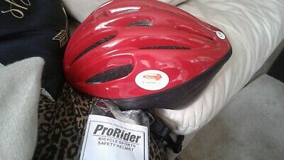 ProRider Bicycle Sports Safety Red Helmet Size L//XL
