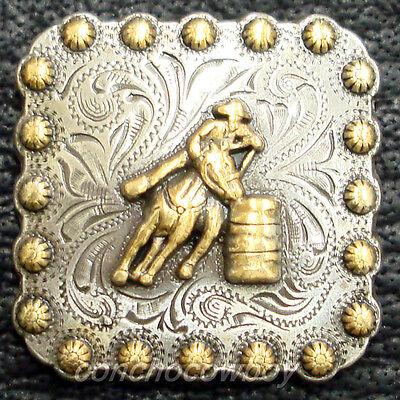"Set of 6 WESTERN HORSE TACK GOLD BARREL RACER BERRY CONCHOS 1-3//4/"" screw back"