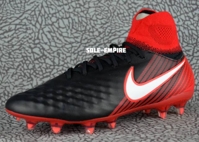d01451115db98 Nike Magista Orden II FG 843812-061 Men s Soccer Cleats Black White Red NEW