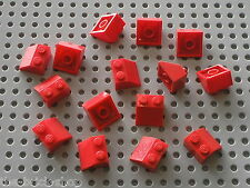 15 x LEGO red Slope Brick 3039 pour toit maison gare - roof train station house