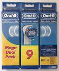 9 x BRAUN Oral B Precision Clean Aufsteckbürsten - NEU & OVP