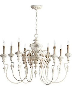 Details About Horchow Aidan Gray Look French Vintage 8 Light Gorgeous Beaded Chandelier