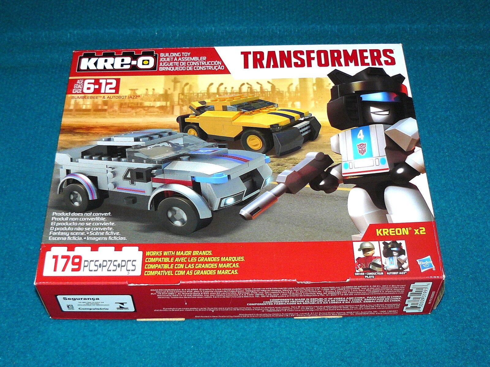 New  KRE-O   Transformers BUMBLEBEE & AUTOBOT JAZZ w 2 KREONS @ Set 82911 82305