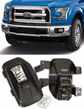 2015 2016 Ford F150 Front Pair Fog Lights Bumper Lamps Set Clear FD650-C