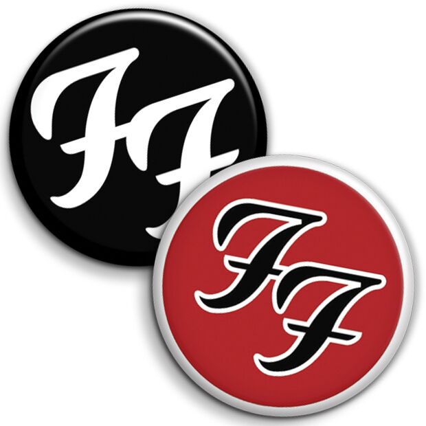 The Foo Fighters Button Badge - 25mm 1 inch FF Band Dave Grohl Indie Music  Rock