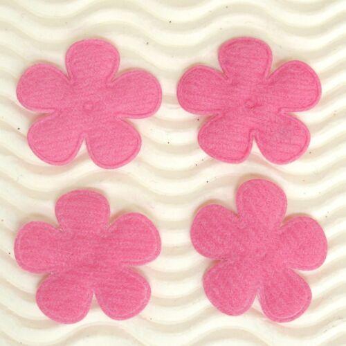 """80-90 pcs x 1/"""" beaucoup de couleurs rembourré feutre Printemps Fleur Appliques pour Arcs ST628"""