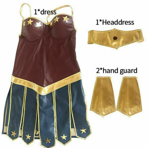 Adult Wonder Woman Cosplay Halloween Party Costumes Dawn Justice Superhero S-2XL