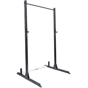 Squat Rack With Pull Up Bar Home Fitness Power Cage Weight Lifting Sport Gym