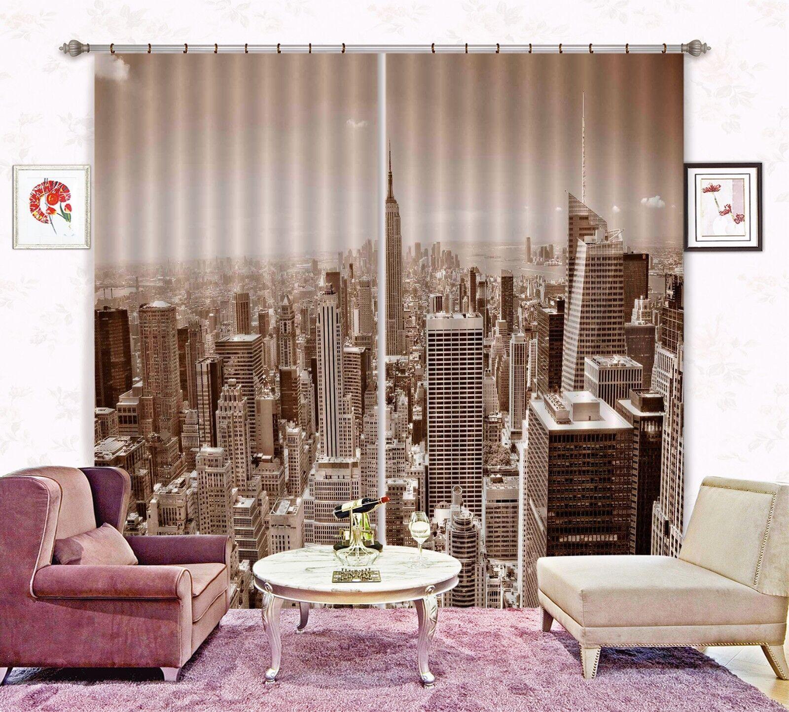 3d edificio Empire State 668 bloqueo foto cortina cortina de impresión sustancia cortinas de ventana