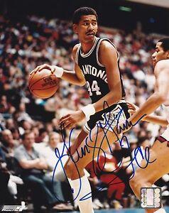 SIGNED-George-Gervin-autograph-8x10-photo-San-Antonio-Spurs-W-PROOF-COA