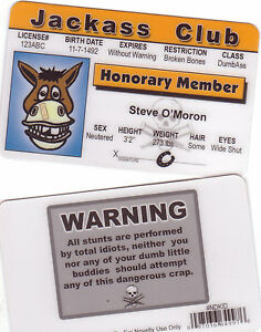 Honorary-MeMber-Jackass-Club-Drivers-License-a-fun-novelty-plastic-card