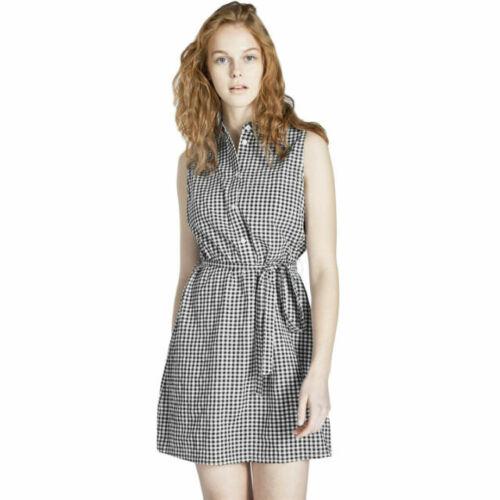 Jack Wills Ruckhall Sleeveless Shirt Dress Black Check Ladies UK 10 *REF145