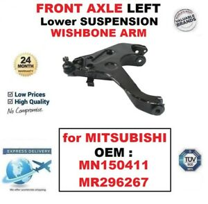 FRONT AXLE LEFT SIDE Lower WISHBONE ARM for MITSUBISHI OEM : MN150411 MR296267