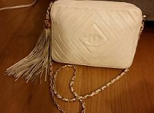 Chanel lambskin white ivory camera cross body Guaranteed AUTHENTIC